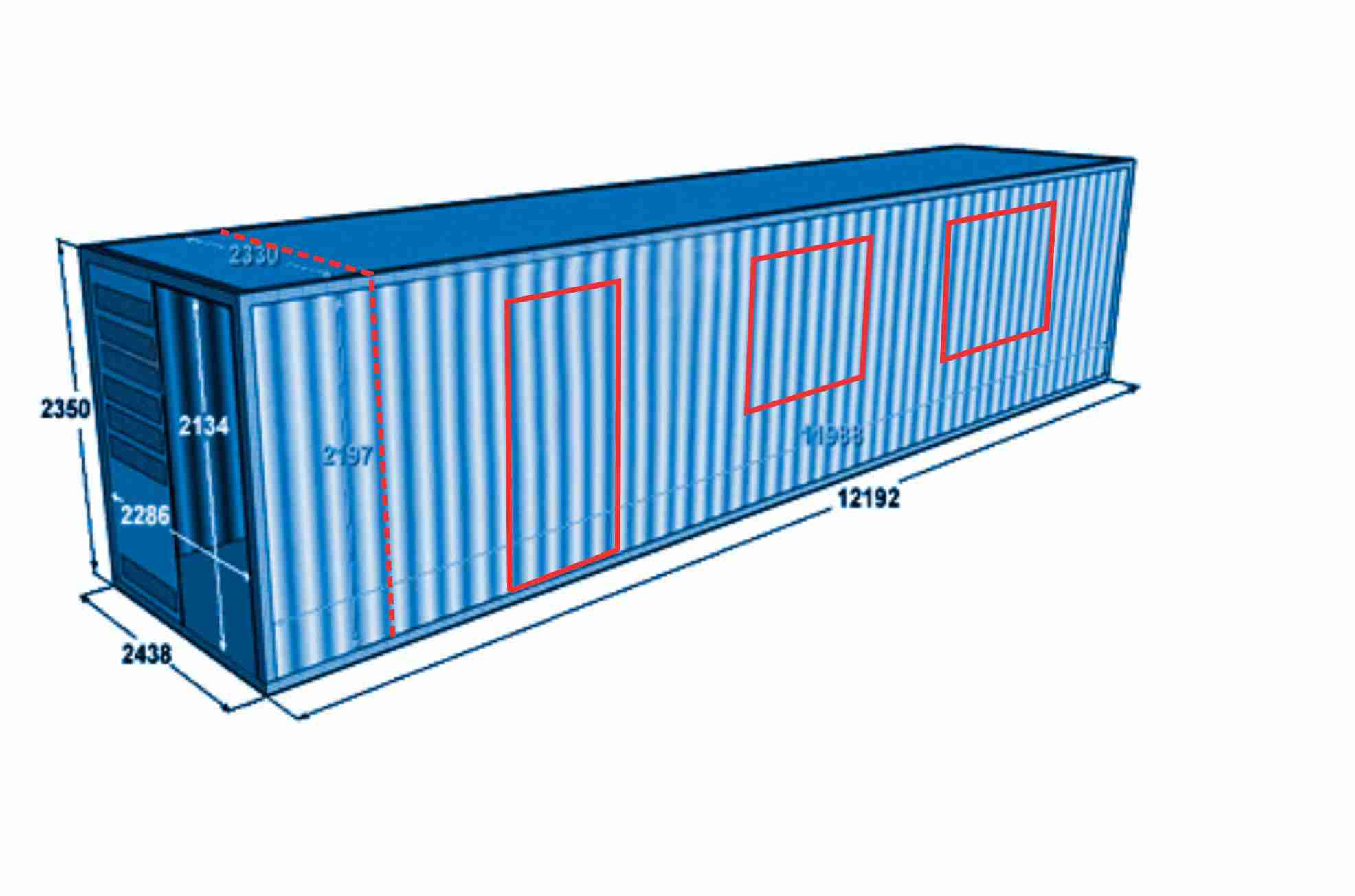 Разметка контейнера