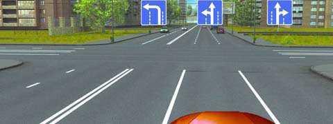 Двигаясь по средней полосе на легковом автомобиле, Вы можете продолжить движение