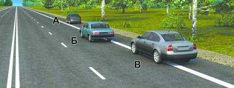 Водитель какого автомобиля нарушил правила остановки?