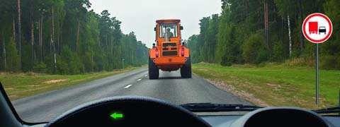 Можете ли Вы обогнать трактор, управляя грузовым автомобилем с разрешенной максимальной массой не более 3,5 т?