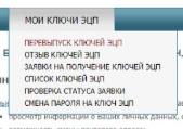 Вкладка Перевыпуск ЭЦП