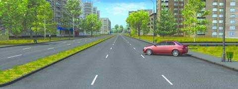 Нарушил ли водитель легкового автомобиля Правила, поставив автомобиль на стоянку указанным способом?