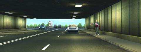 Разрешено ли водителю легкового автомобиля подъехать задним ходом к пассажиру, стоящему на тротуаре в тоннеле?
