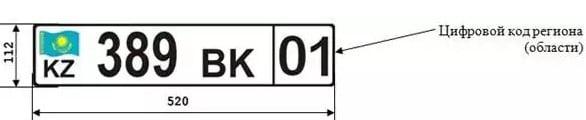 Регистрационные автомобильные номера РК
