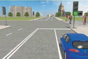 Движение по стрелкам светофора