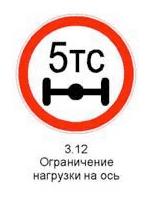Знак 3.12 «Ограничение нагрузки на ось»