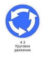 Знак 4.3 «Круговое движение»