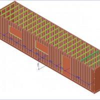Принципиальная схема утепления контейнера